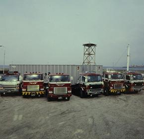 海上コンテナ輸送取扱業務部門を設置。